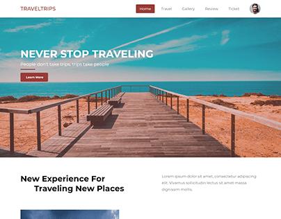 Travel Landing Page Website