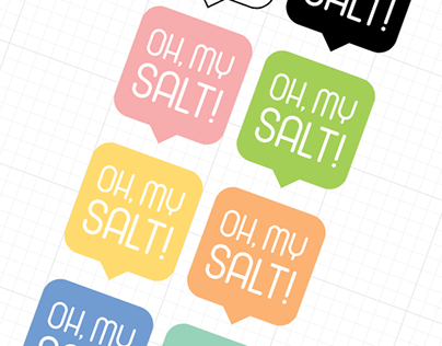 """Дизайн упаковки соли для ванн """"Oh, my salt!"""""""