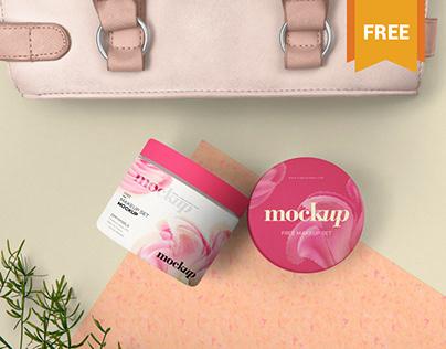 Free Modish Cosmetic Packaging Mockup