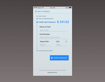Ui Design 100 Day Challenge Day2: Credit Card Checkout