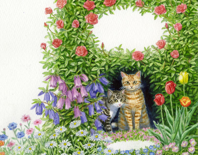 """Book cover """"Puypui & the tunnel in the garden"""""""