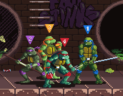 TMNT: The Arcade Game | Pixel Art On Behance