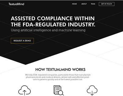 TextualMind Landing Page