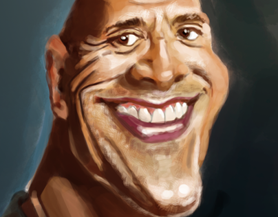 Caricature -  Dwayne Johnson
