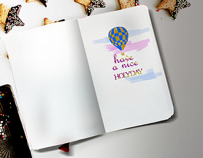 Simple One Side Sketch Book Mockup