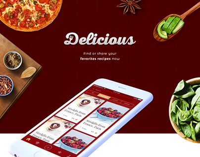 Delicious App - Find or share your favourites recipes
