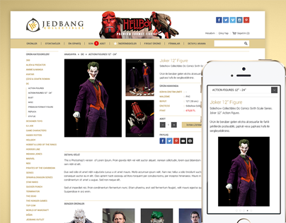 Jedbang Collectibles E-Commerce Site
