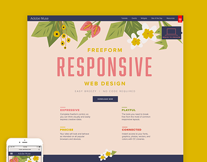 Adobe Muse Website Redesign, Winter 2016