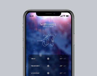 GAME OF THRONES APP CONCEPTS