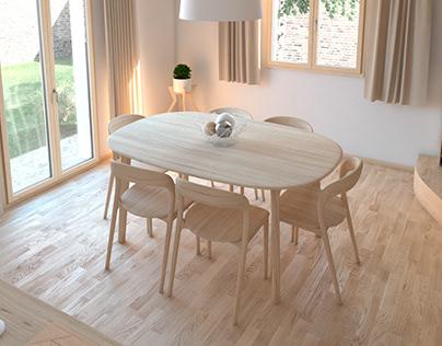 Minimal living room CGI (2019)
