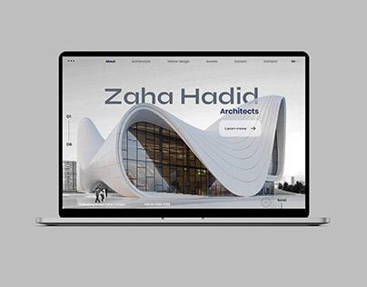 Website for architect - Zaha Hadid