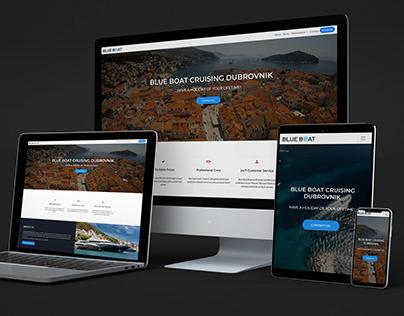 Blue Boat Cruising Dubrovnik - webpage & logo