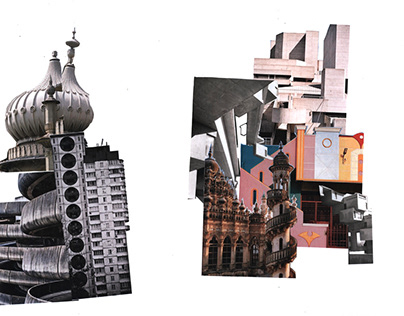 Collage & Screenprint from Brighton