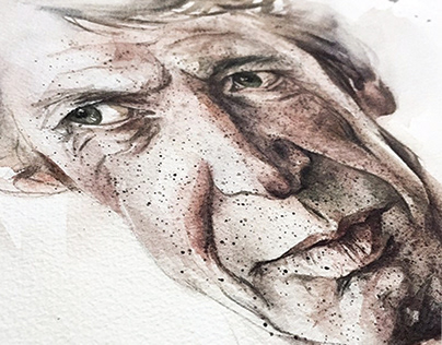 Portrait in JJ brand watercolor