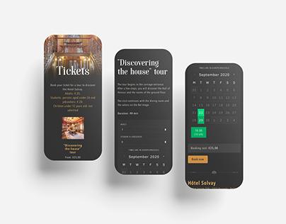 Hôtel Solvay - Booking system