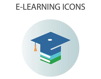 e-learning icons set