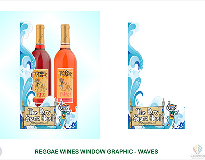Speedway Stores Cooler Window Cling for Reggae Wines.