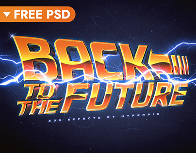 Back to the Future Text Effect (FREE)