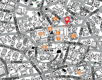 Mapa ilustrado de San Lorenzo de la Parrilla