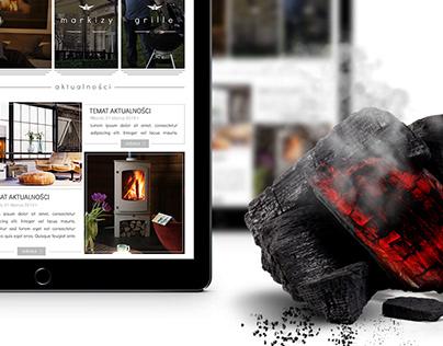 alfa-fireplaces, grills e-commerce website