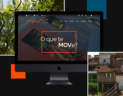 Proposta de layout para site MOV Investimentos