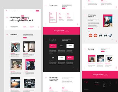 Tango - Landing page design