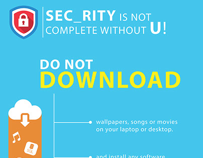 Security tips illustrator poster