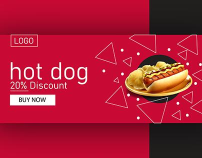 Hot Dog facebook cover design
