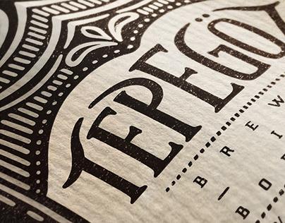 """Tepegöz"" Homemade Beer Label"