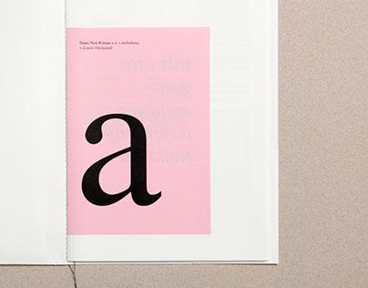Type Specimen Poster & Book, Times New Roman