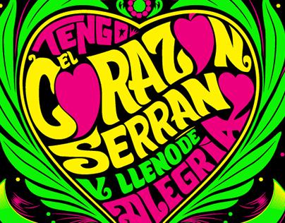 Posters - Lettering - Tengo el Corazón Serrano