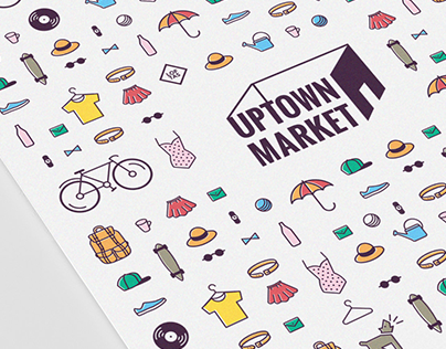 Visual Identity for UPTOWN MARKET