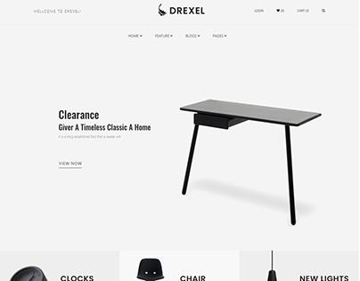 Drexel - HTML5 Responsive E-commerce Furniture Website