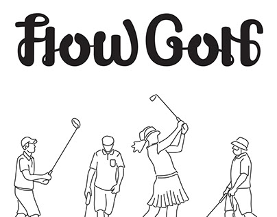 Flow Golf logo design