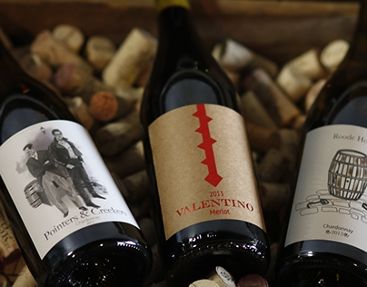The Red Hook Winery wine bottle design