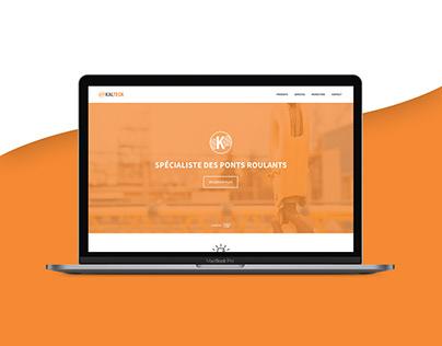 Kalteck - Logo and website redesign concept