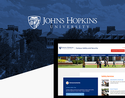 Johns Hopkins University Campus Safety Website Design