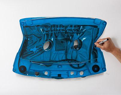 Midnight Oil Blue Sky Mining Cassette Tape