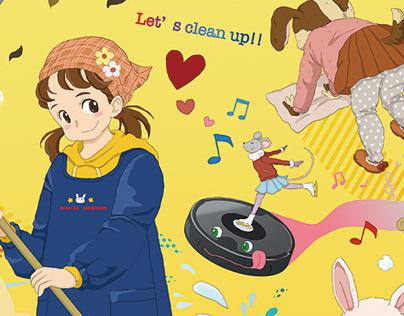 clean up!! 掃除