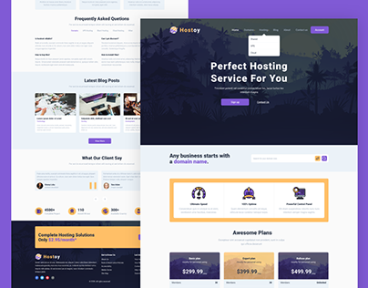 HOSTOY - Modern Web Hosting & WHMCS Template