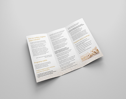 "Brochure layout for ""Healthy back"" program"
