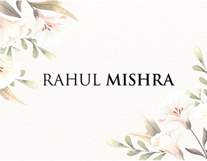 Brand Study(Rahul Mishra)