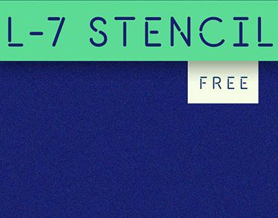 L-7 STENCIL FONT (FREE)