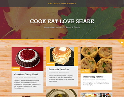 Recipe Website Design