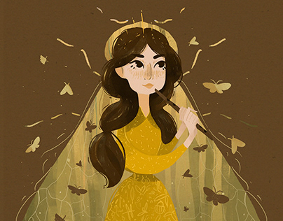 Princess beetles and butterflies