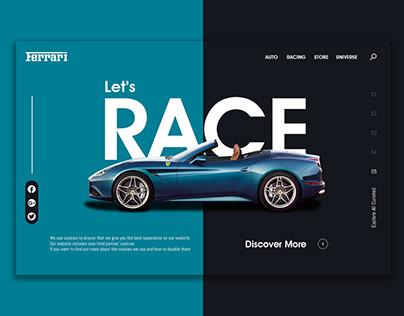 Ferrari (landing page)--UI&UX---jpg&gif