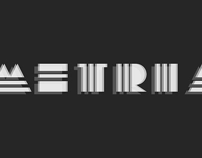 Metria - Typeface