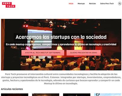 Sitio web de Perú Tech Meetup