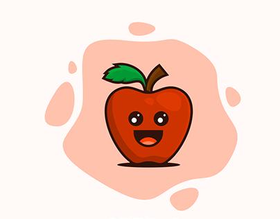 Apple Cute Mascot