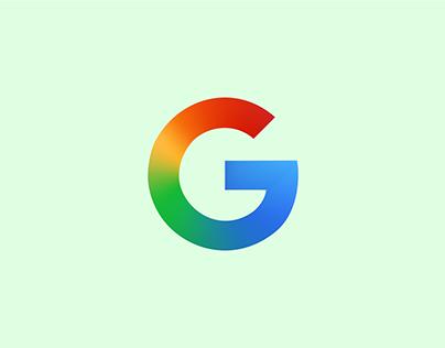 Google Logo with Gradient